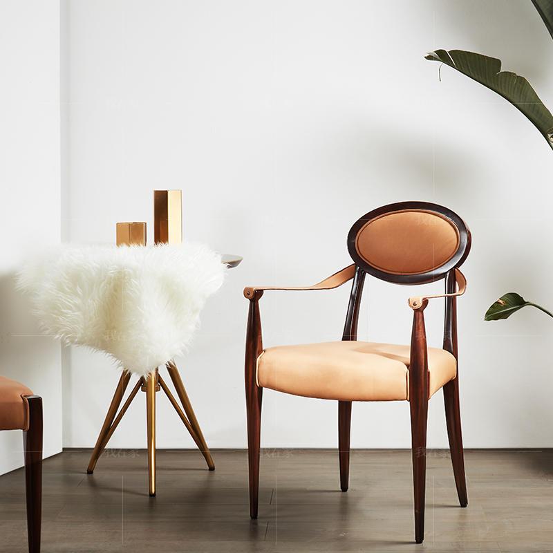 轻奢美式风格圆背餐椅(样品特惠)