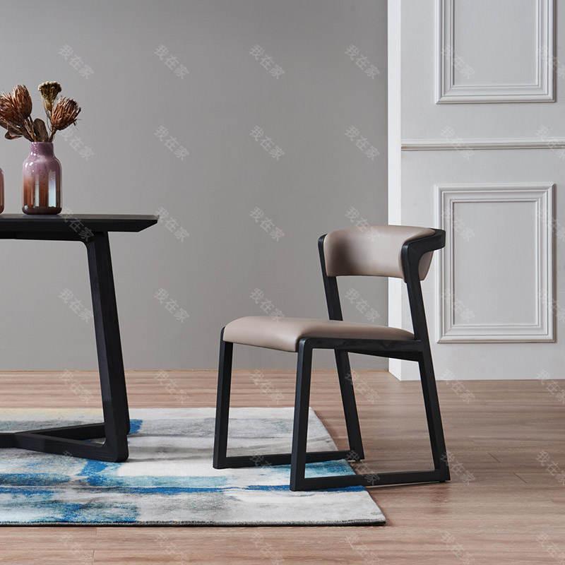 意式极简风格博德餐椅
