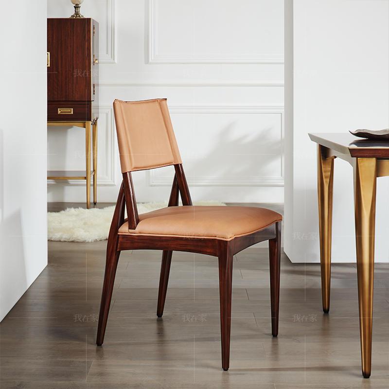 轻奢美式风格塔影餐椅(样品特惠)