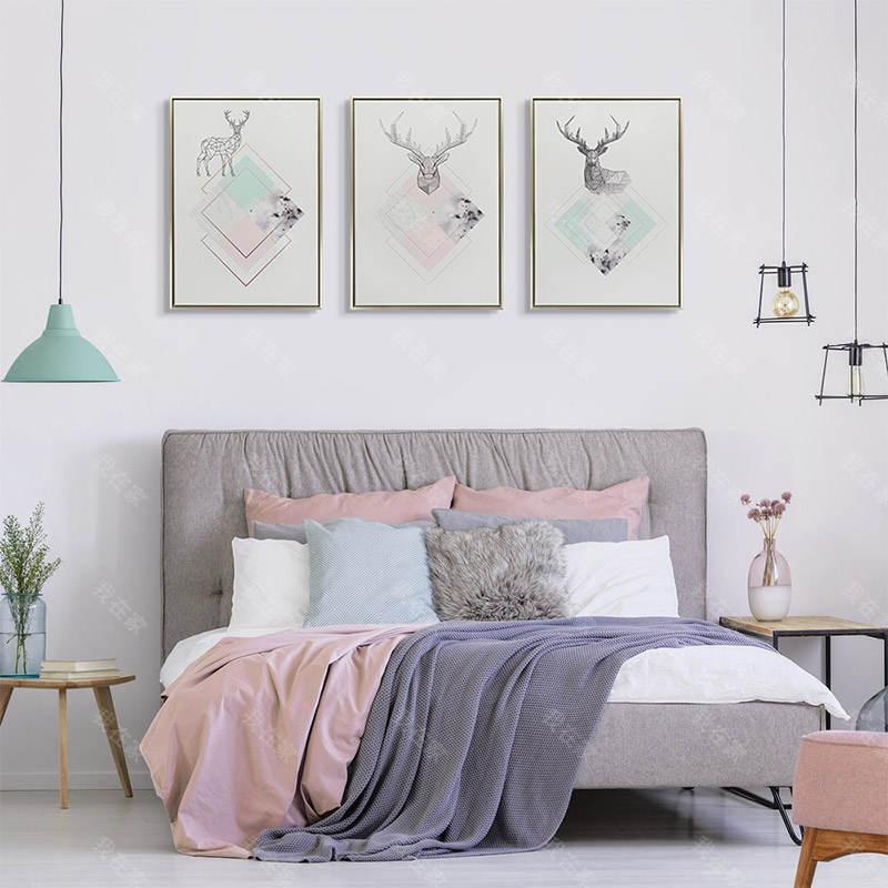 现代简约风格几何麋鹿 抽象装饰画