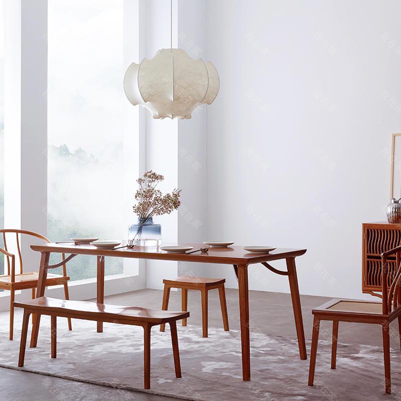 新中式风格霸王撑天地方桌