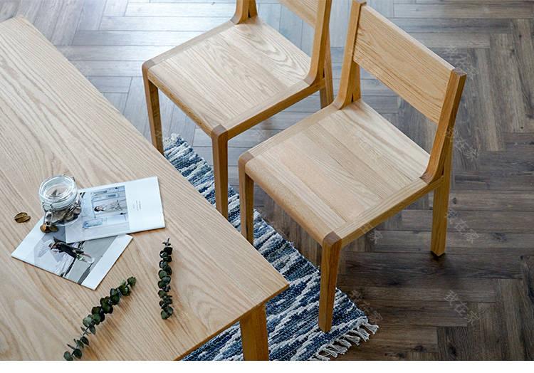 原木北欧风格餐椅*2把(样品特惠)的家具详细介绍