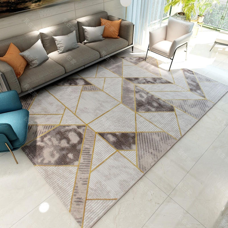 现代简约风格轻奢几何地毯
