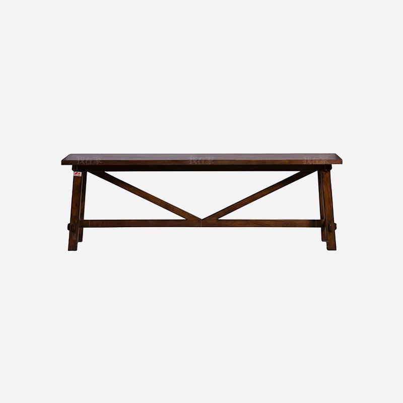 简约美式风格密苏里长条凳