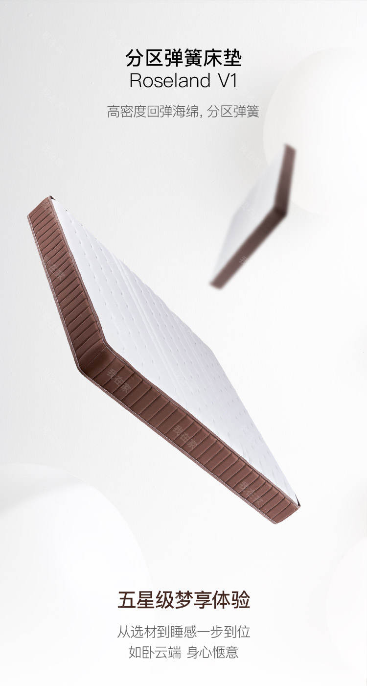 Roseland品牌V1分区弹簧床垫的详细介绍