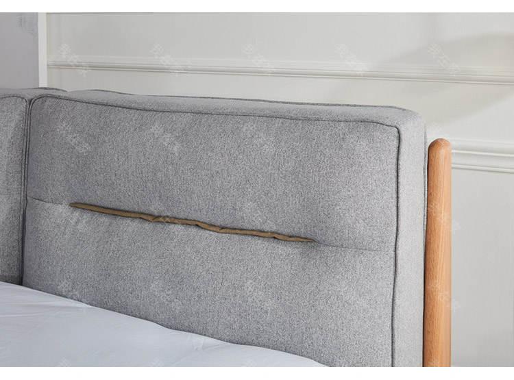 原木北欧风格和风大床的家具详细介绍