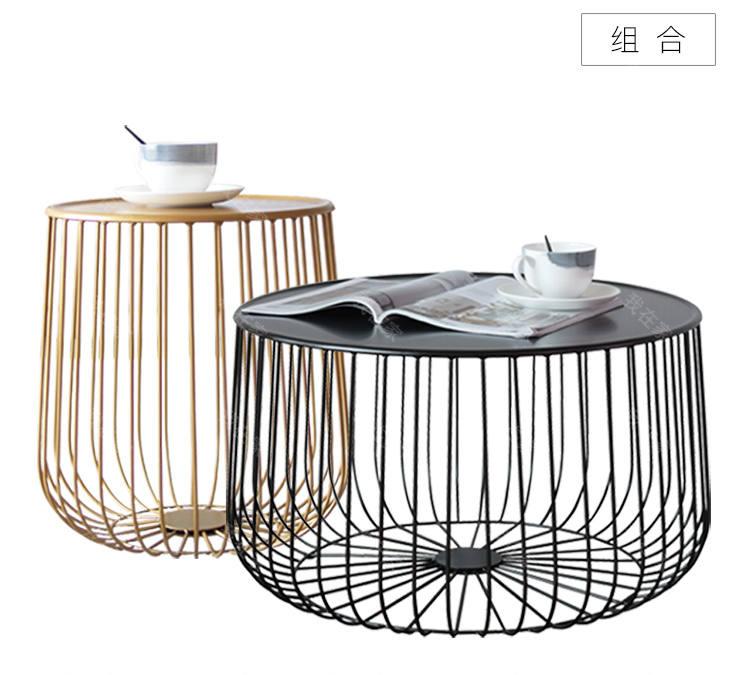 色彩北欧风格鸟笼组合茶几的家具详细介绍