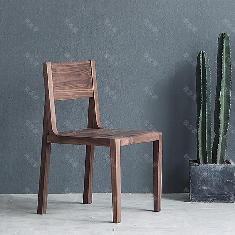 原木北欧风格餐椅*2把(样品特惠)