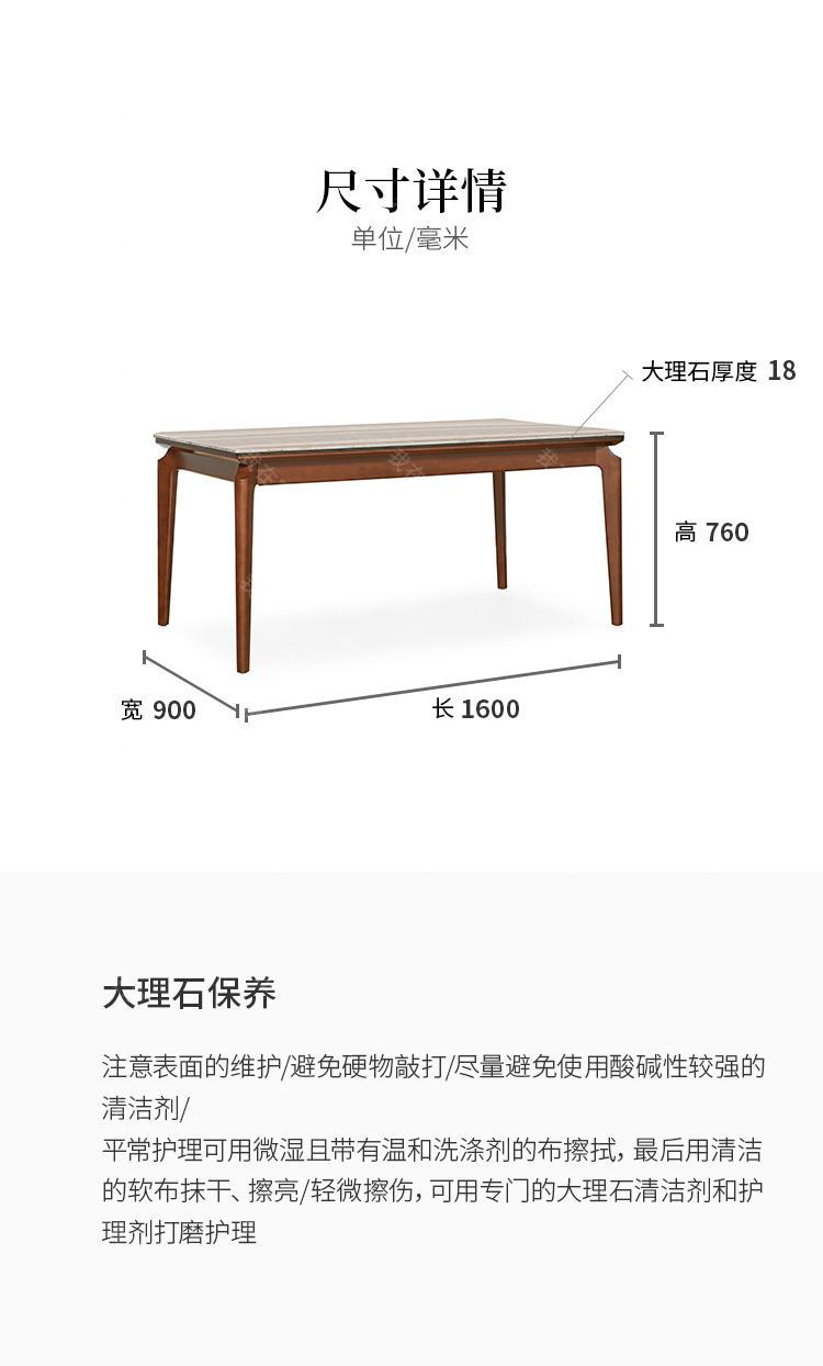 现代简约风格塞西利餐桌的家具详细介绍