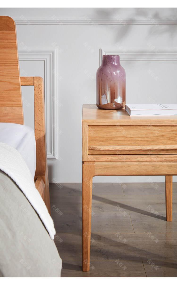 原木北欧风格木上床头柜(样品特惠)的家具详细介绍