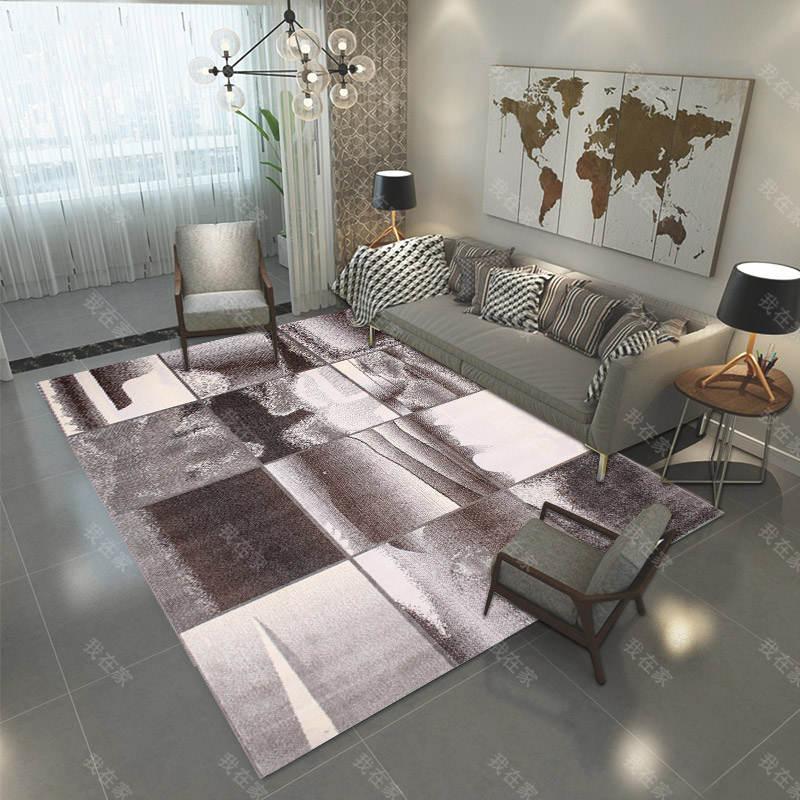 地毯品牌方形抽象图案机织地毯