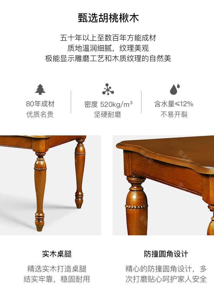 传统美式风格卡隆餐桌的家具详细介绍