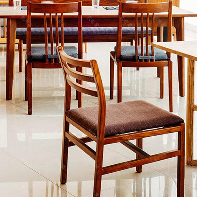 新中式风格木筵餐椅(坐垫可拆款)