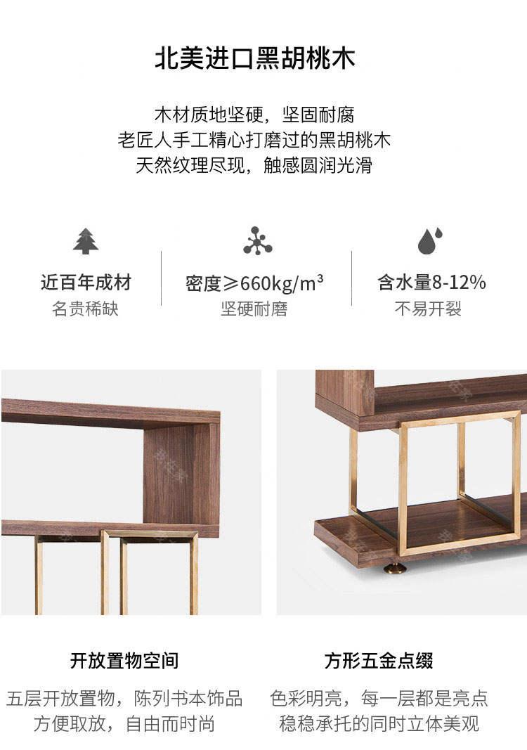 现代简约风格桑德罗书架的家具详细介绍