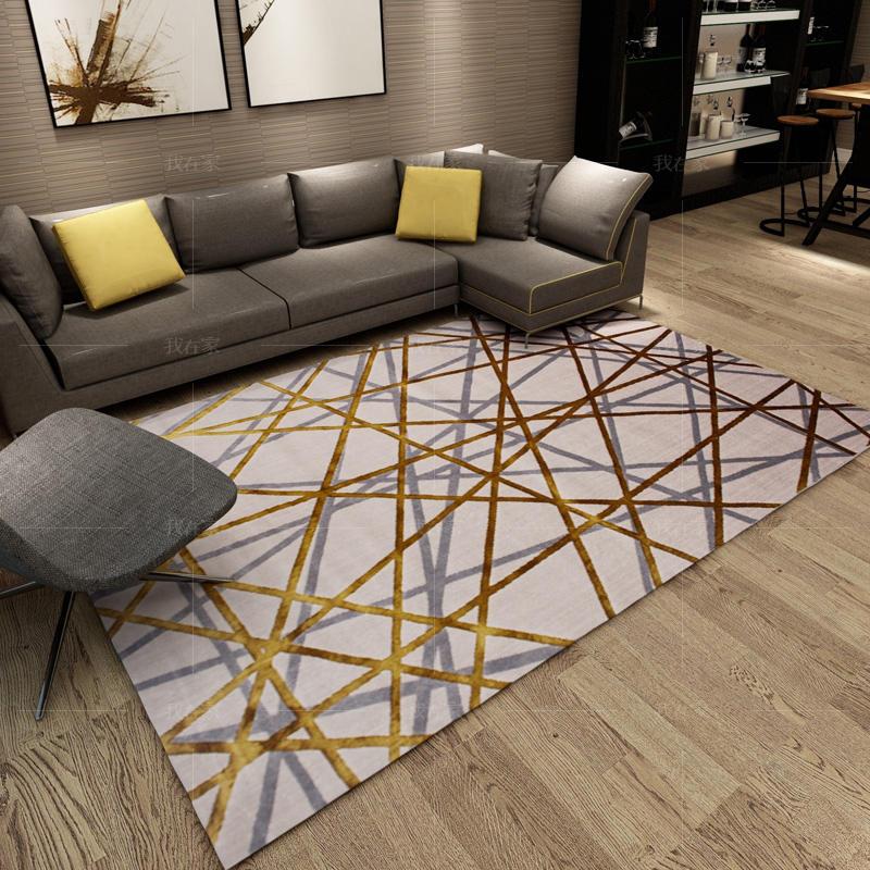 地毯系列交叉线条机织地毯