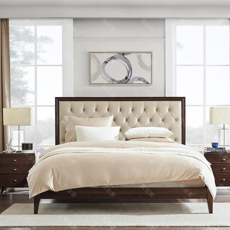 现代美式风格凯撒靠背床