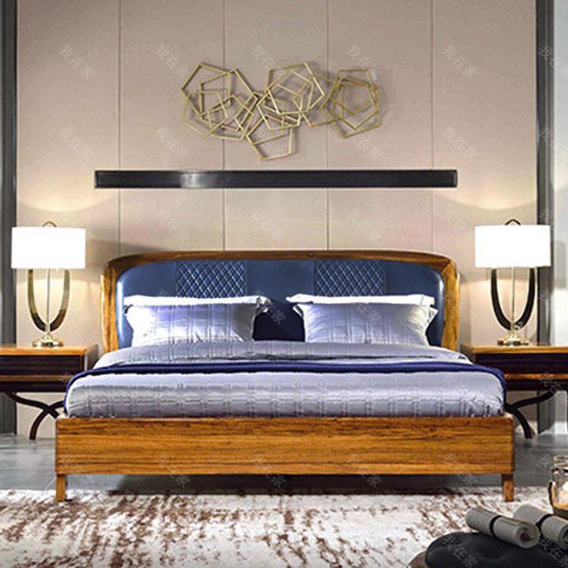 现代实木风格返景双人床(样品特惠)