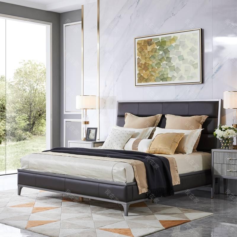 轻奢美式风格维加斯双人床