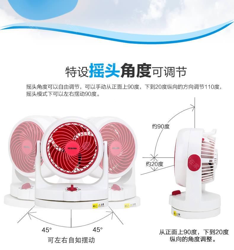 爱丽思品牌爱丽思摇头循环扇的详细介绍