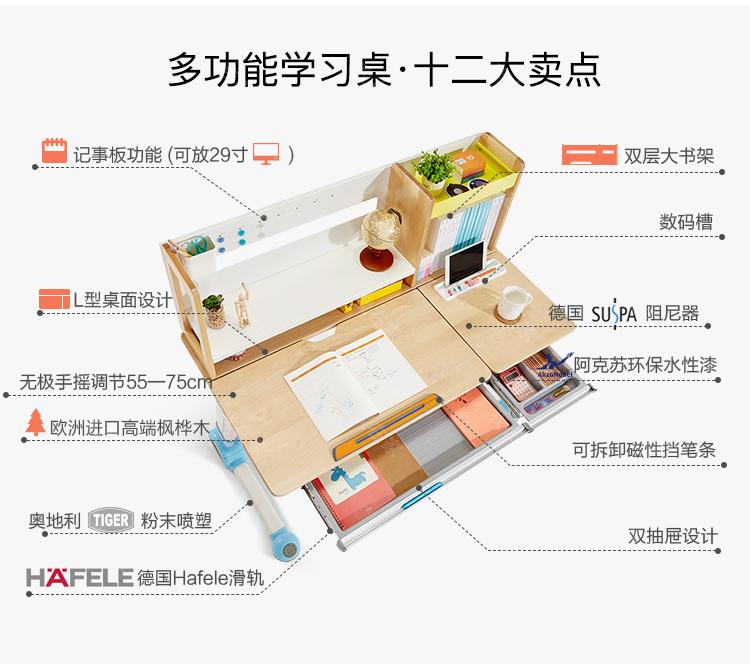 现代儿童风格儿童学习桌(样品特惠)的家具详细介绍