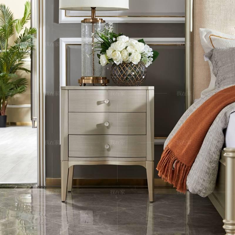 轻奢美式风格奈斯床头柜