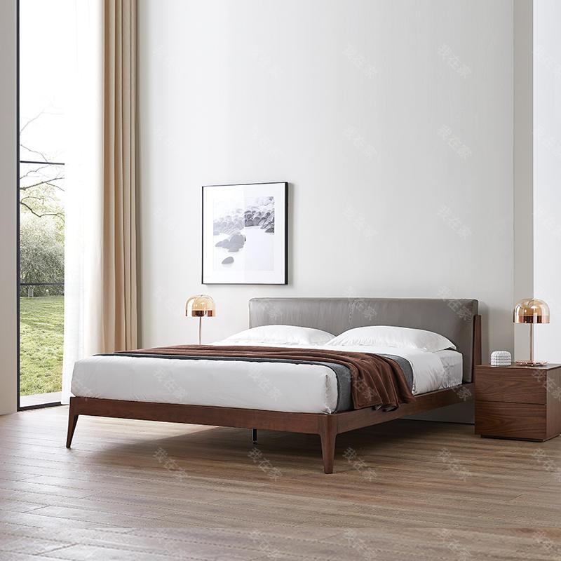 意式极简风格艾洛双人床