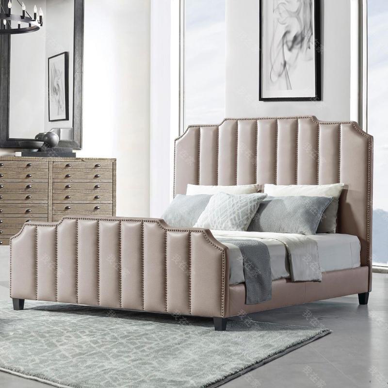 现代美式风格博尔德双人床