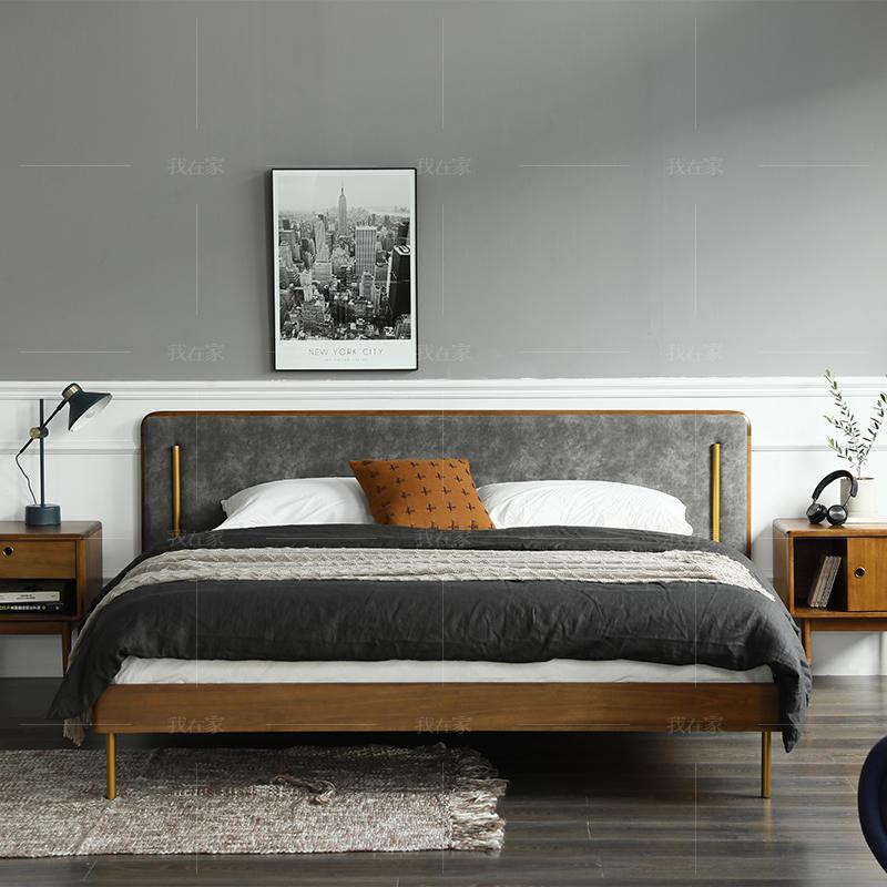 中古风风格艾斯堡双人床