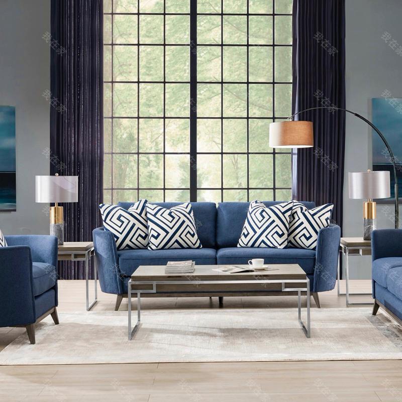 现代美式风格卡斯特布艺沙发