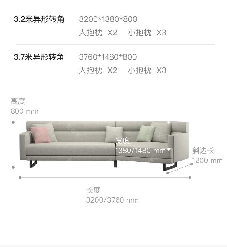 意式极简风格比邻沙发的家具详细介绍