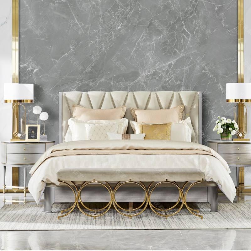 轻奢美式风格塔菲双人床