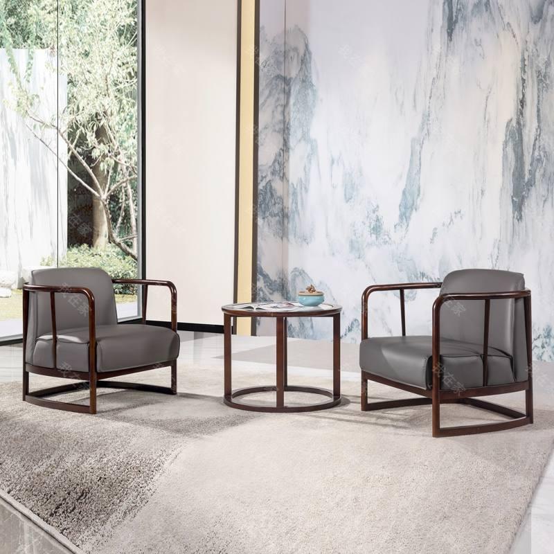 新中式风格玲珑休闲椅