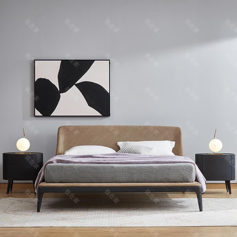 意式极简风格依图双人床