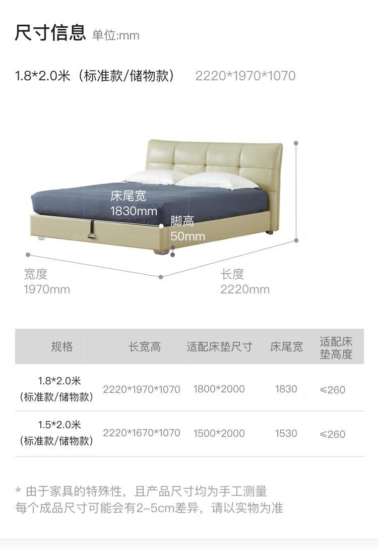 现代简约风格帕比双人床的家具详细介绍
