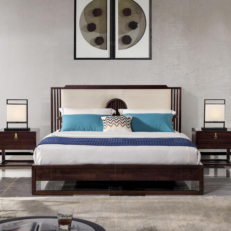 新中式风格秋月双人床
