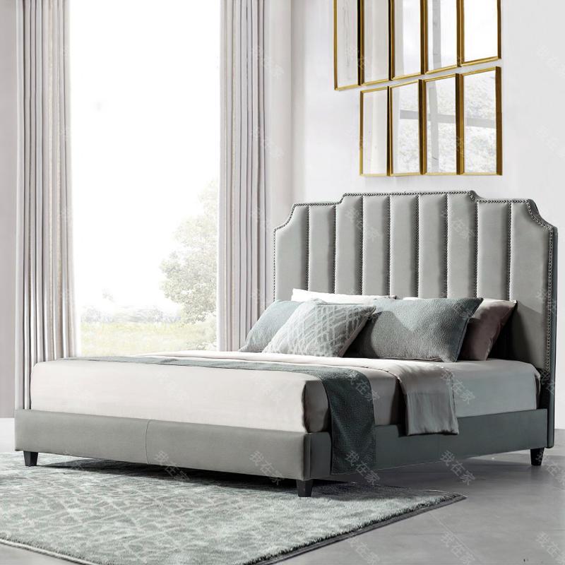 现代美式风格卡斯特双人床