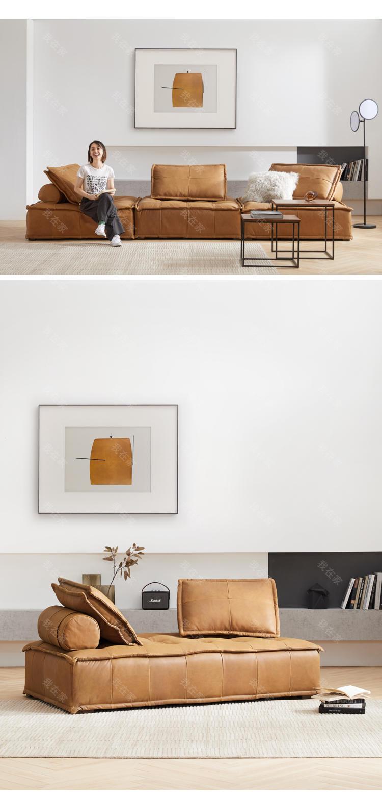 中古风风格克勒斯真皮沙发的家具详细介绍