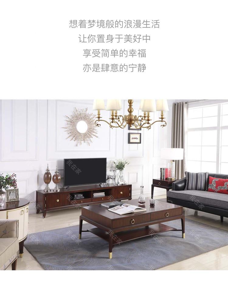 现代美式风格皮尔斯电视柜的家具详细介绍
