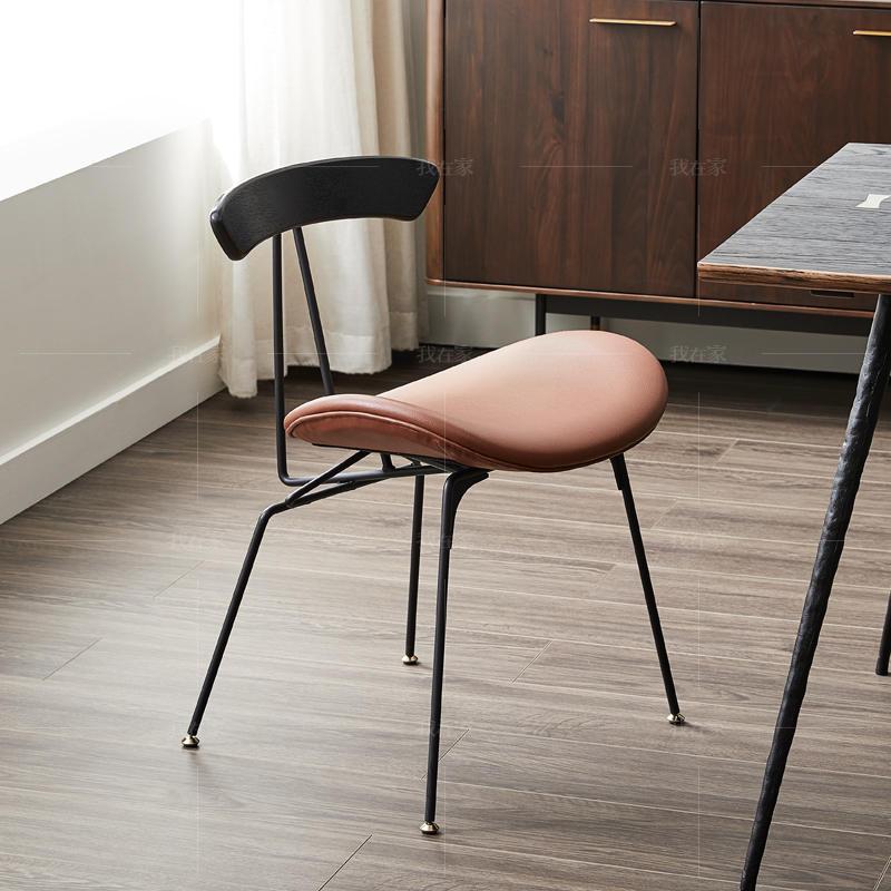 中古风风格尼亚湾餐椅(2把)