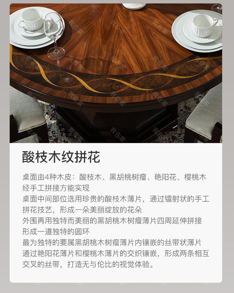 现代美式风格西西里圆桌的家具详细介绍