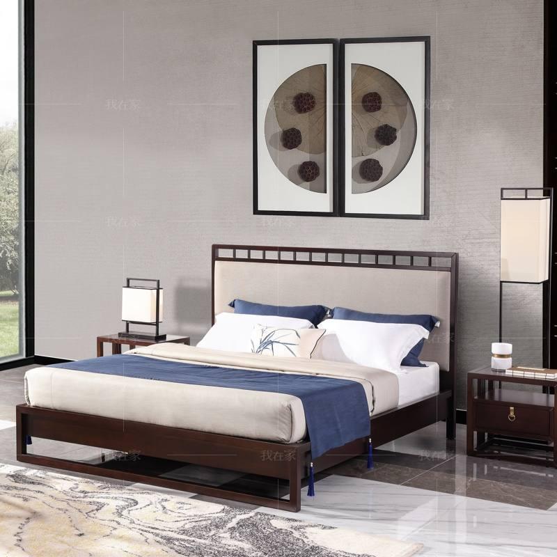 新中式风格疏影双人床