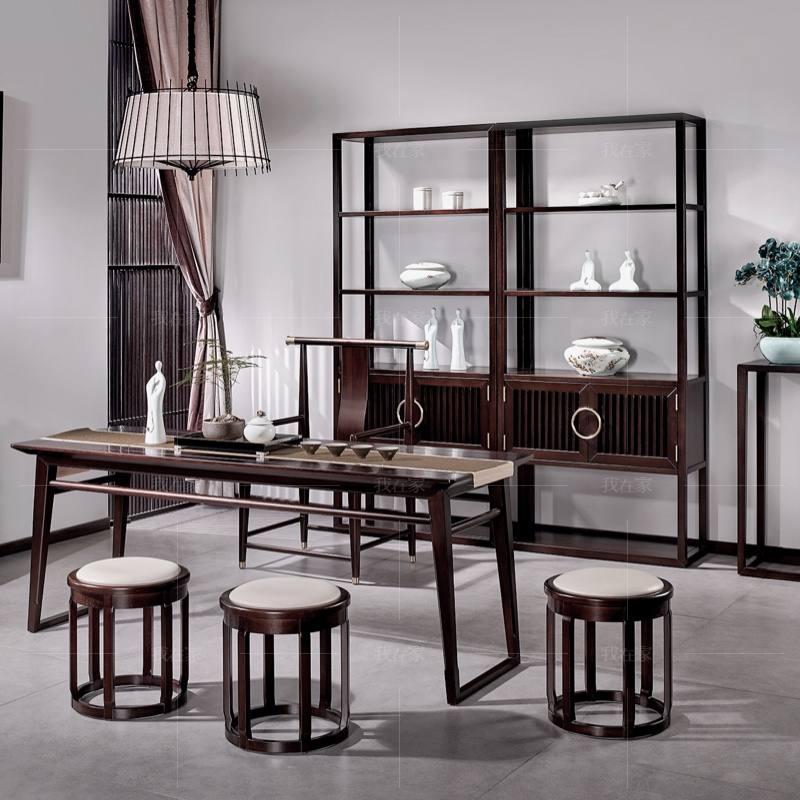新中式风格似锦茶架