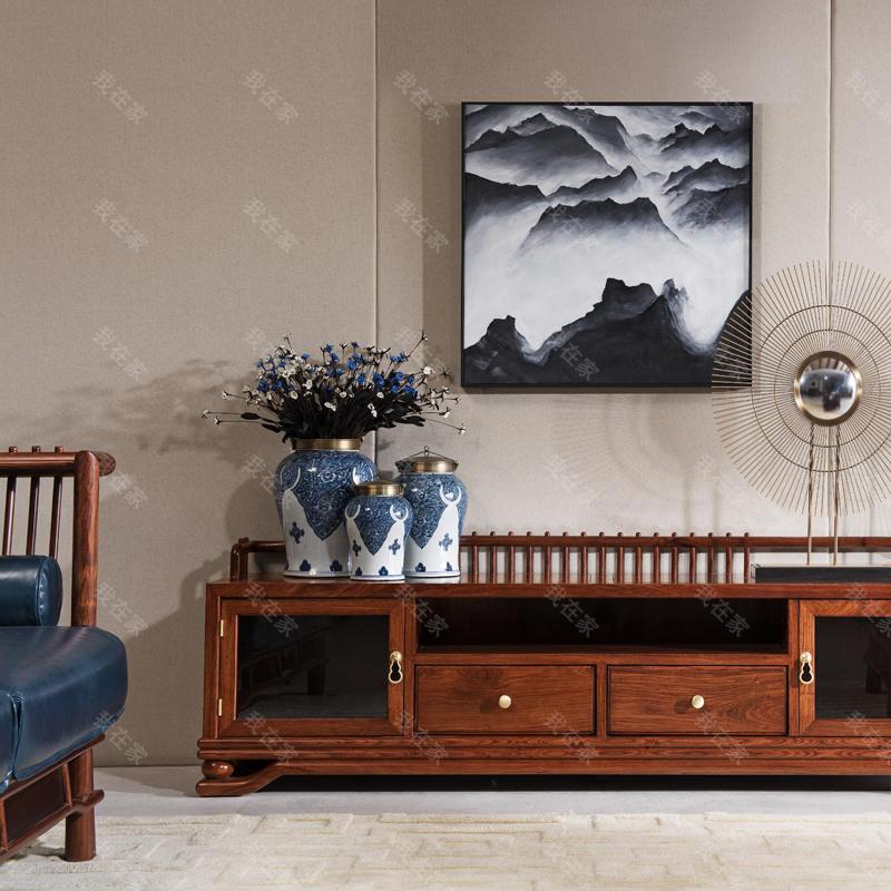 新古典中式风格规矩电视柜