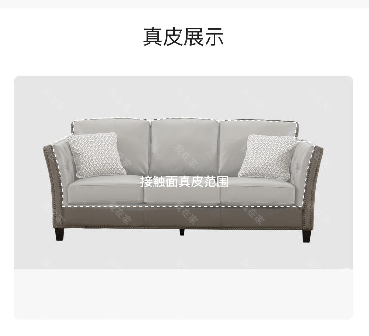 现代美式风格休斯顿真皮沙发的家具详细介绍
