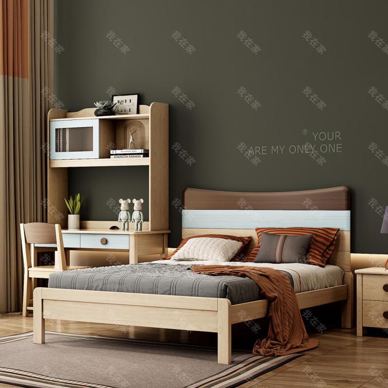 北欧儿童风格北欧-沃登儿童床