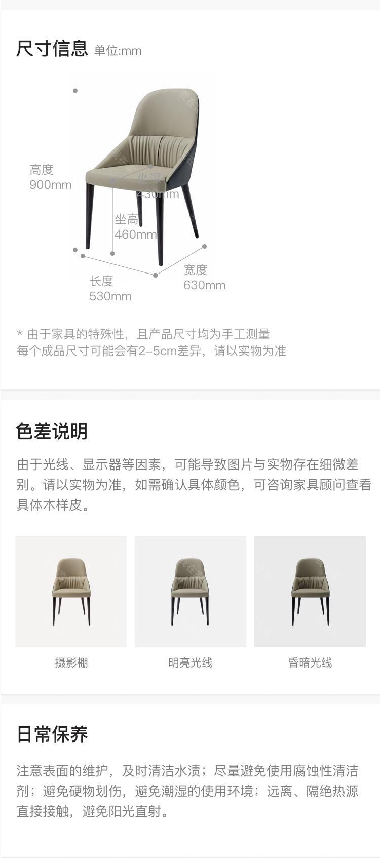现代简约风格圣若望餐椅的家具详细介绍