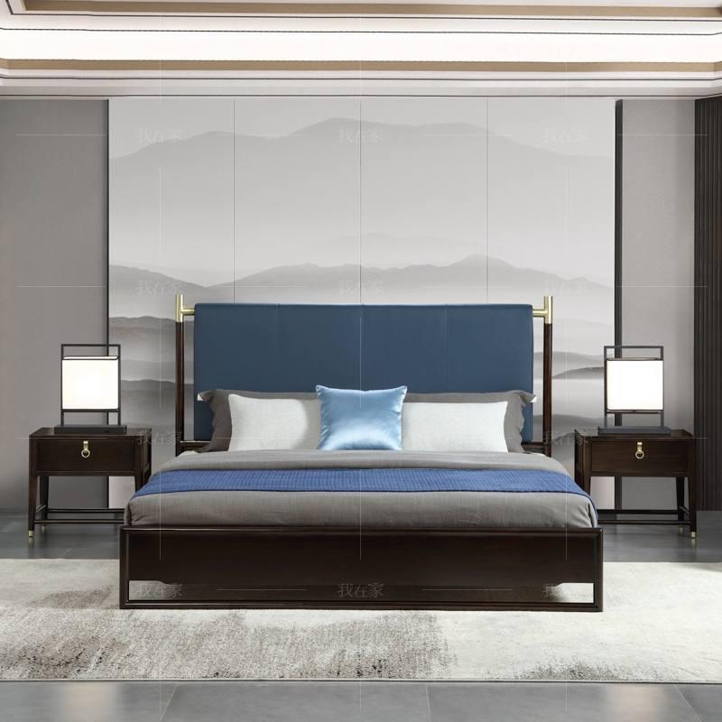 新中式风格似锦双人床