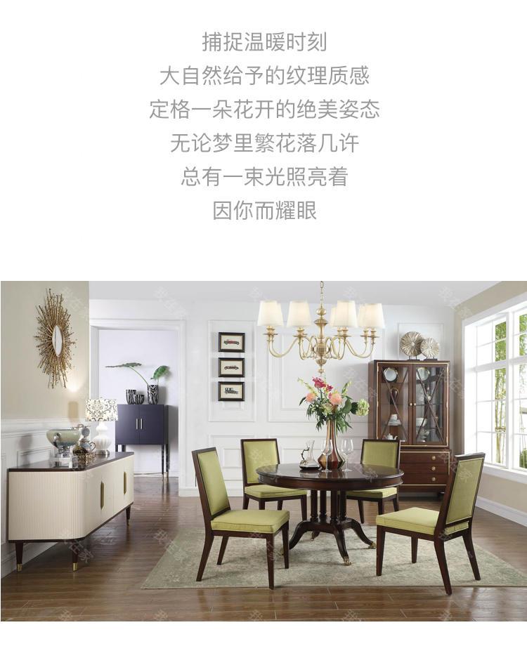 现代美式风格巴尔博亚餐边柜的家具详细介绍