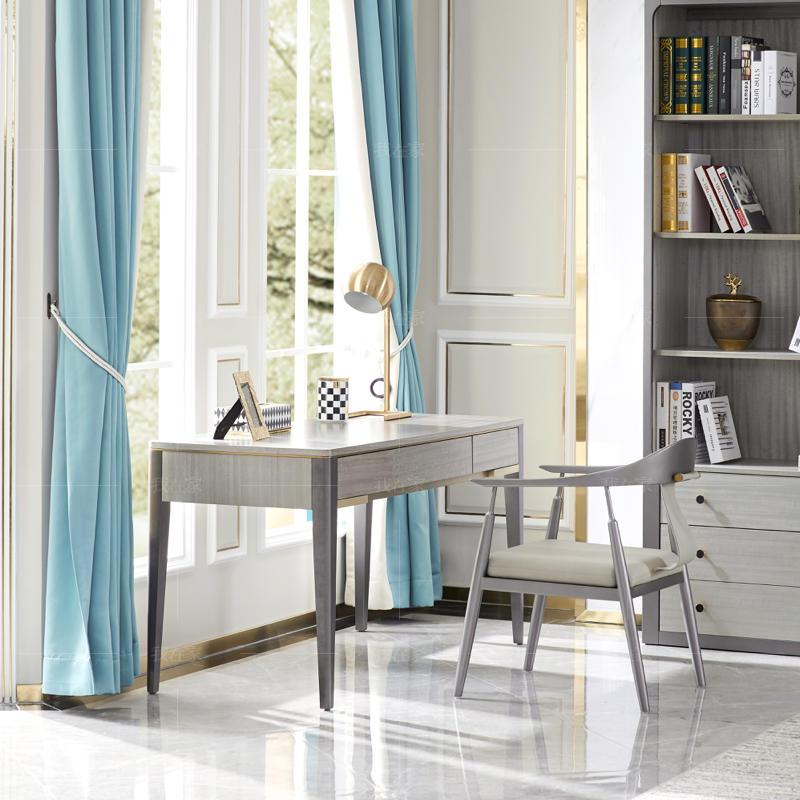 轻奢美式风格希尔顿书桌