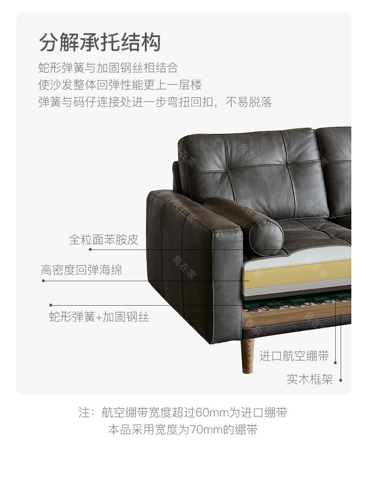 中古风风格马德里沙发 的家具详细介绍
